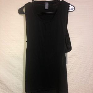 Black open back top size L